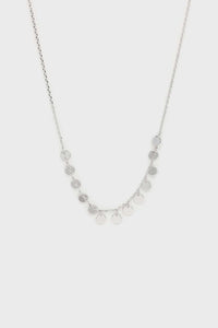 Charm necklace - Silver clustered circles1sx