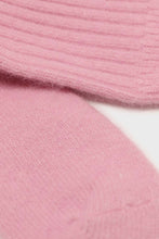Load image into Gallery viewer, Bright pink angora ribbed socks4