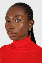 Load image into Gallery viewer, Bright red wool blend turtleneck top7