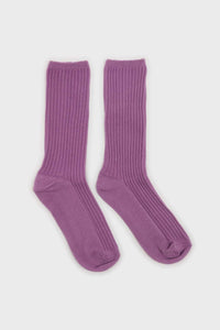 Light purple long ribbed socks2