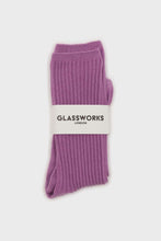 Load image into Gallery viewer, Light purple long ribbed socks3