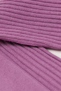 Light purple long ribbed socks4