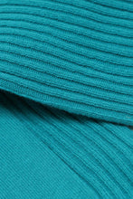 Load image into Gallery viewer, Aqua blue long ribbed socks4