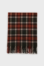 Load image into Gallery viewer, Khaki and orange classic plaid scarf2