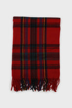 Load image into Gallery viewer, Red and blue bold plaid scarf1sx