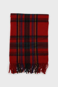 Red and blue bold plaid scarf1sx