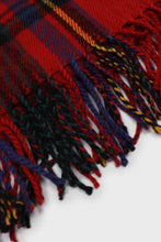 Load image into Gallery viewer, Red and blue bold plaid scarf2