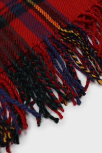 Red and blue bold plaid scarf2