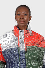 Load image into Gallery viewer, Multicolor paisley patchwork puffer jacket3