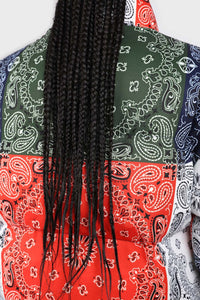 Multicolor paisley patchwork puffer jacket7