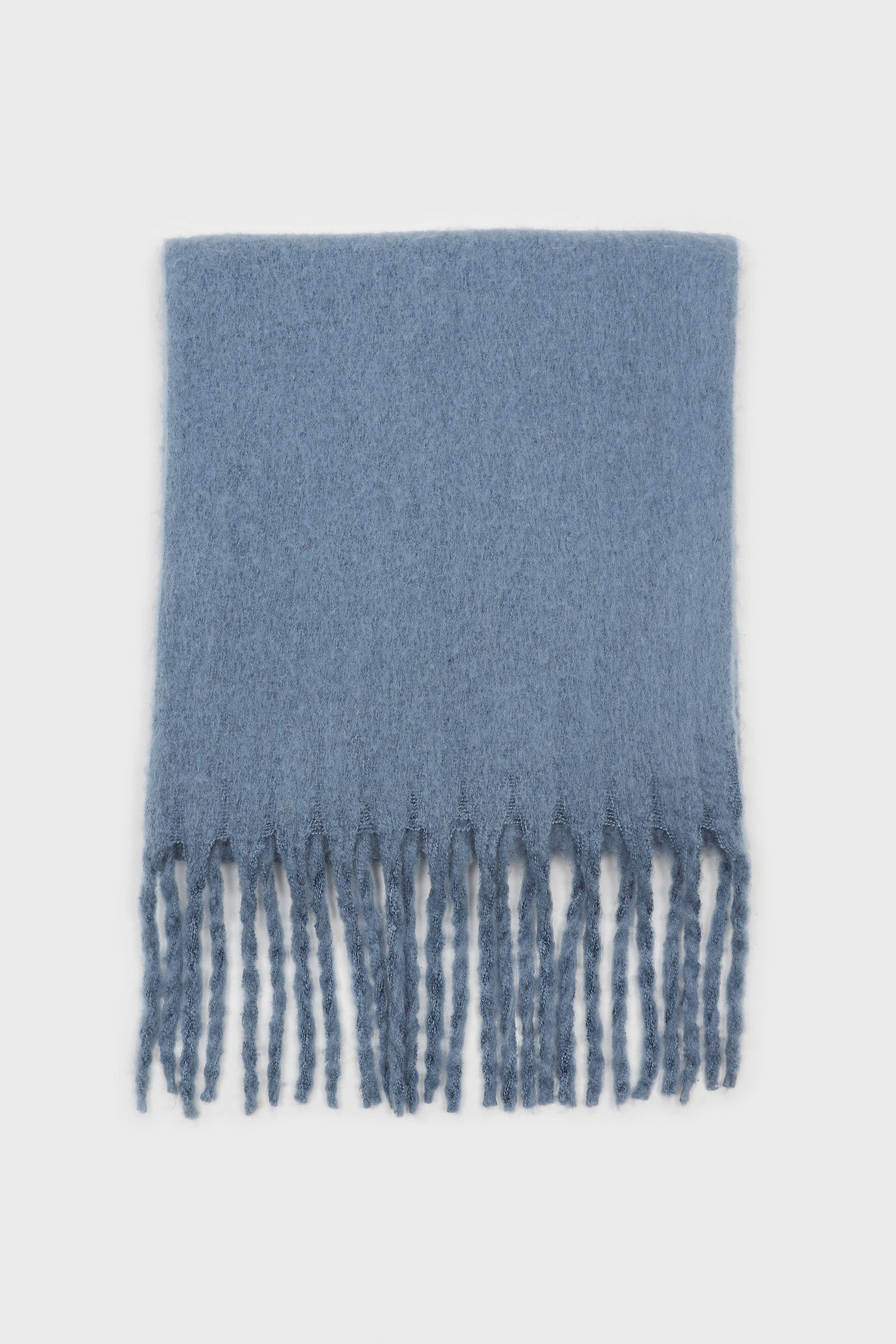 Bright blue fuzzy thick scarf - 8262