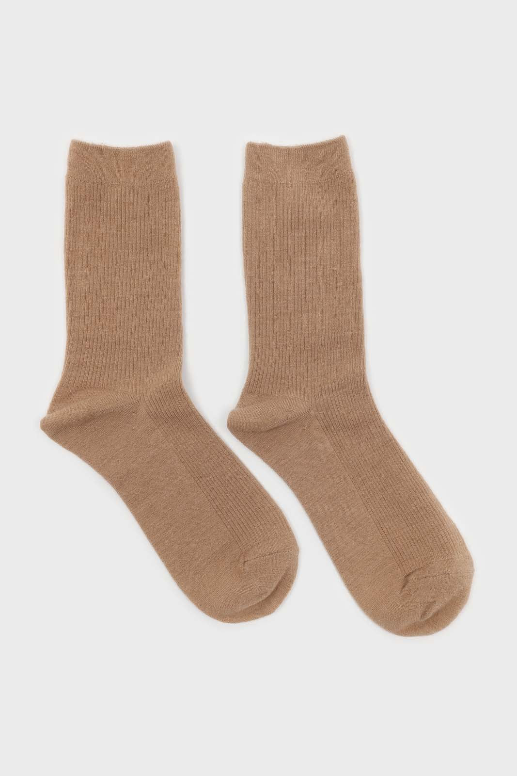 Light beige merino wool socks 2