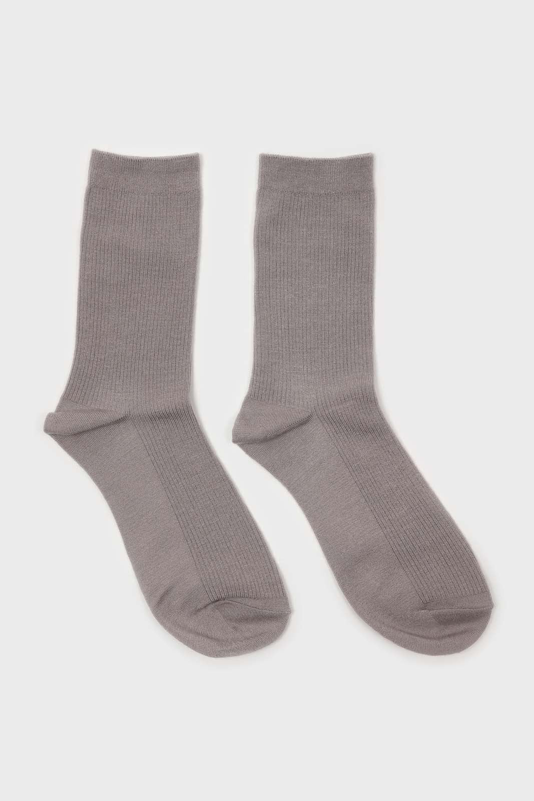 Light grey merino wool socks 2