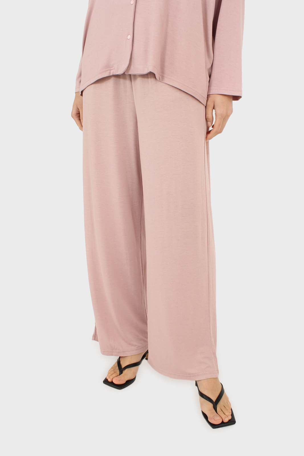 Pink jersey pajama bottoms 4