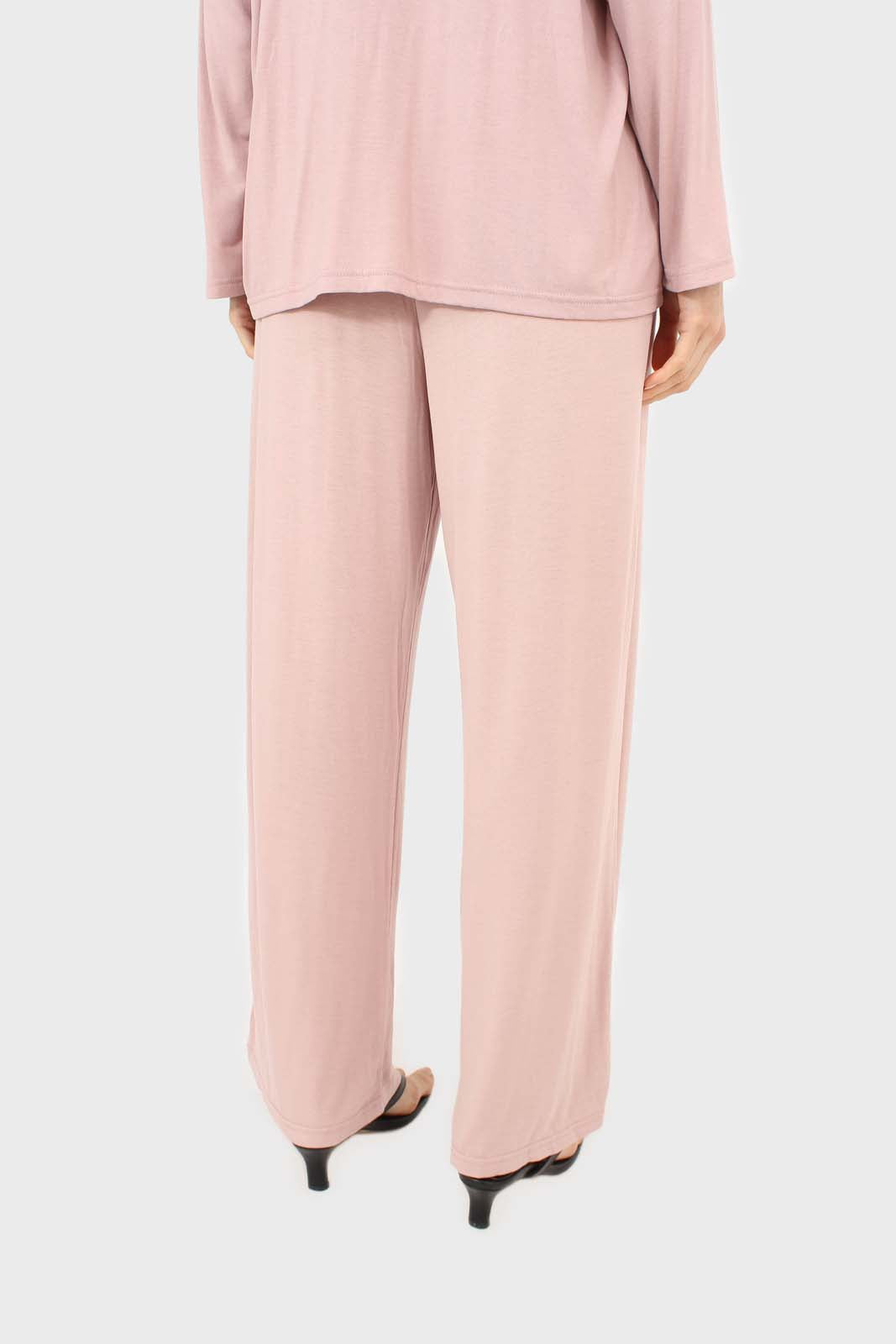 Pink jersey pajama bottoms 5