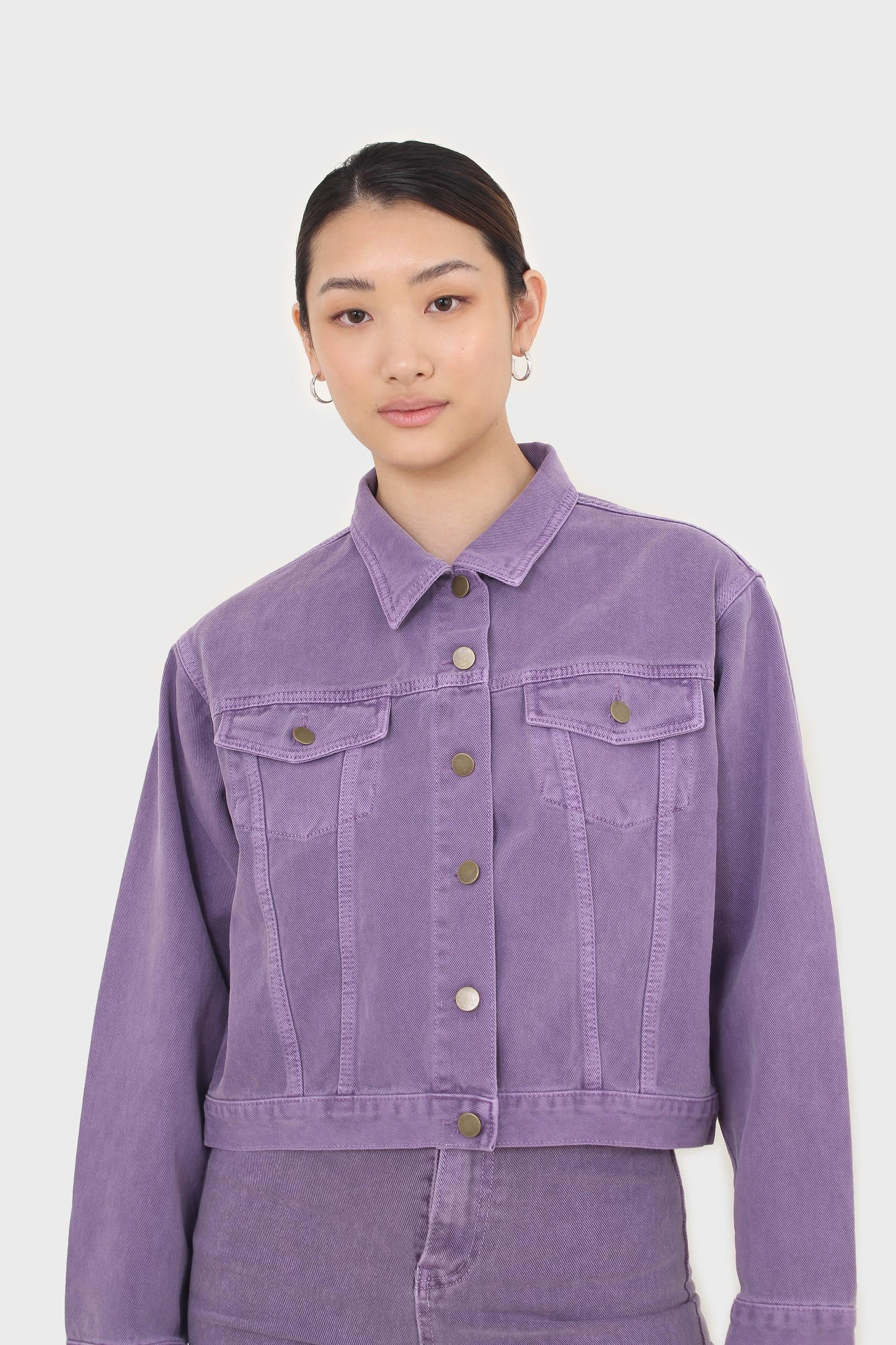 Violet denim jacket - 7001