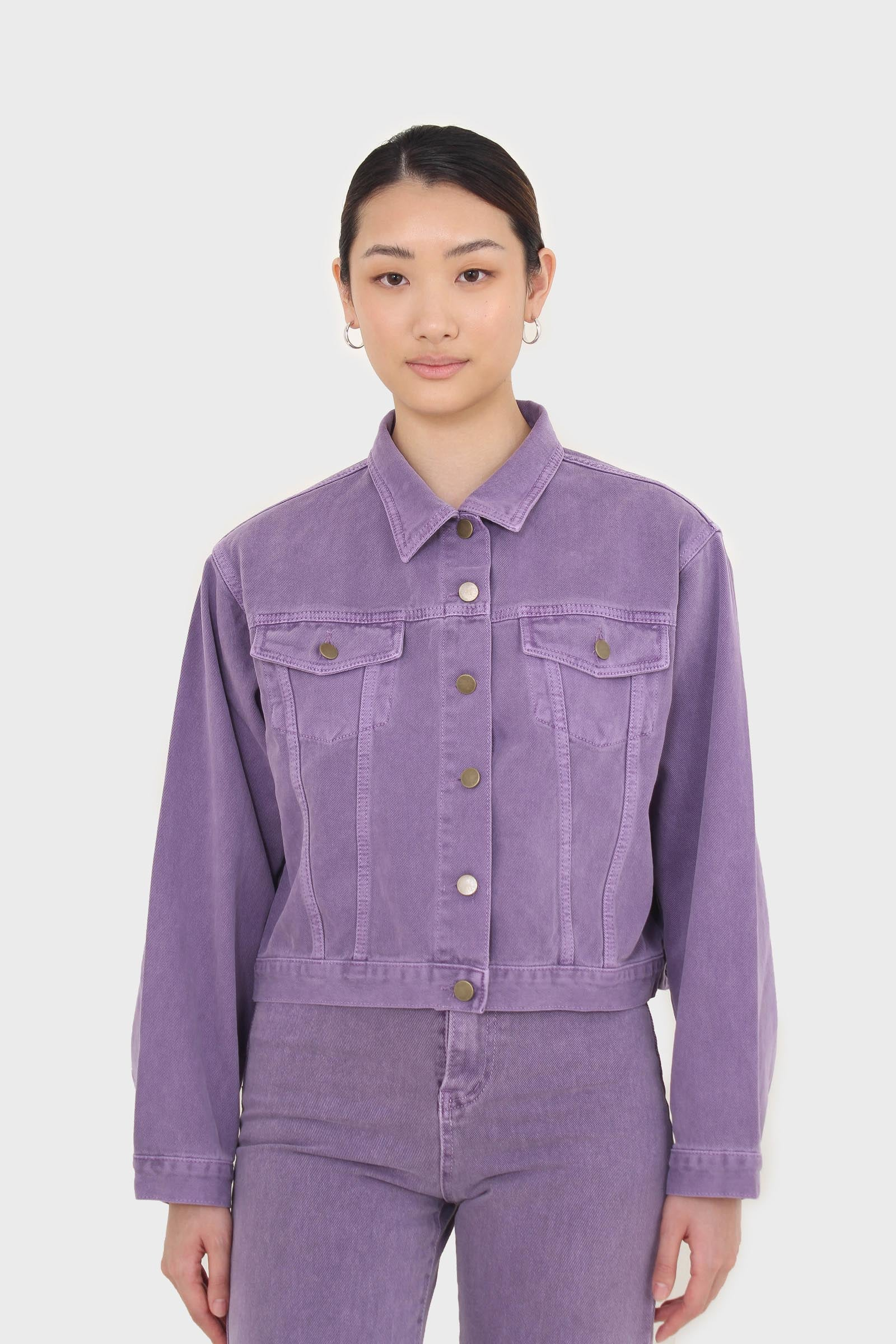 Violet denim jacket - 7002