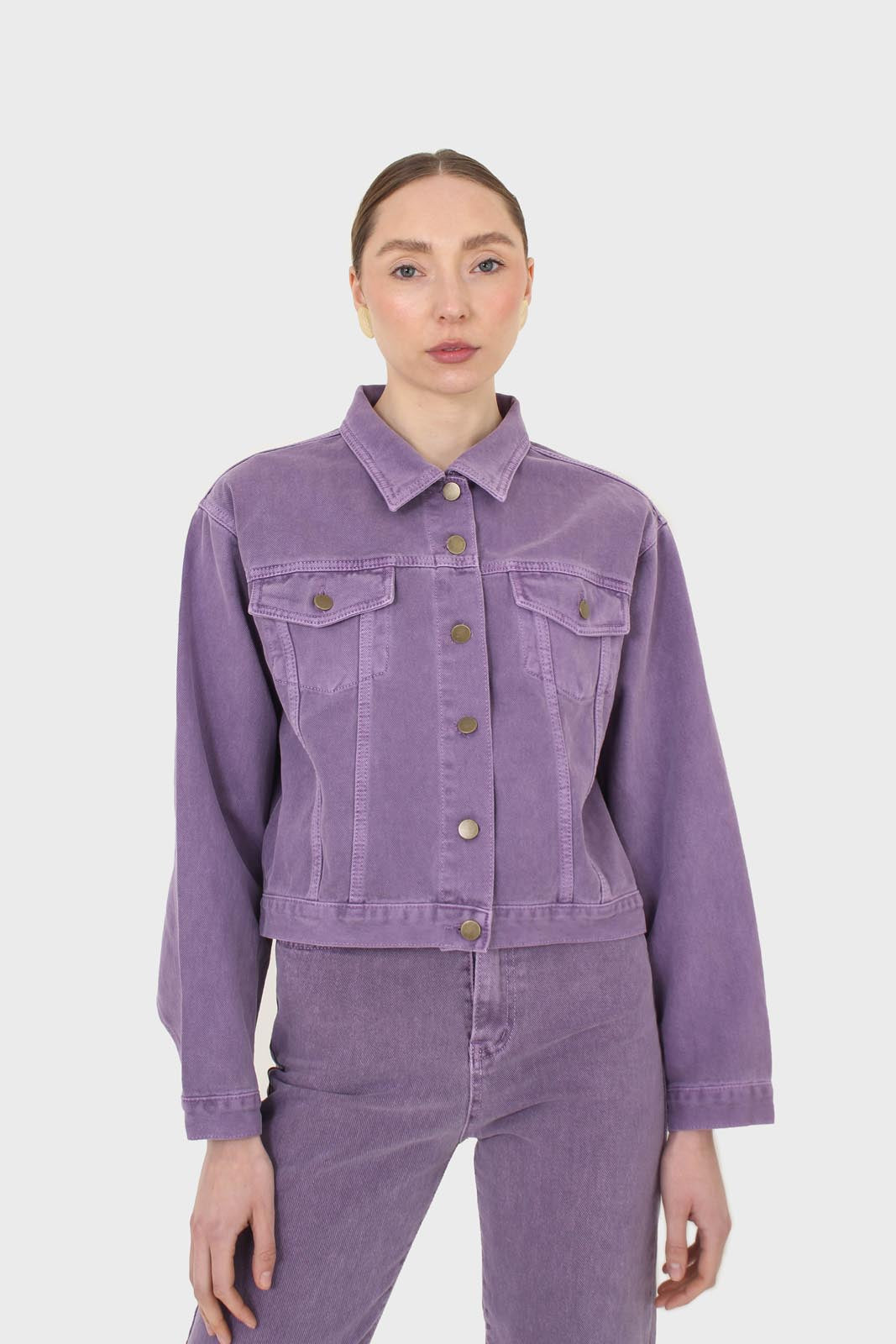 Violet denim jacket - 7003