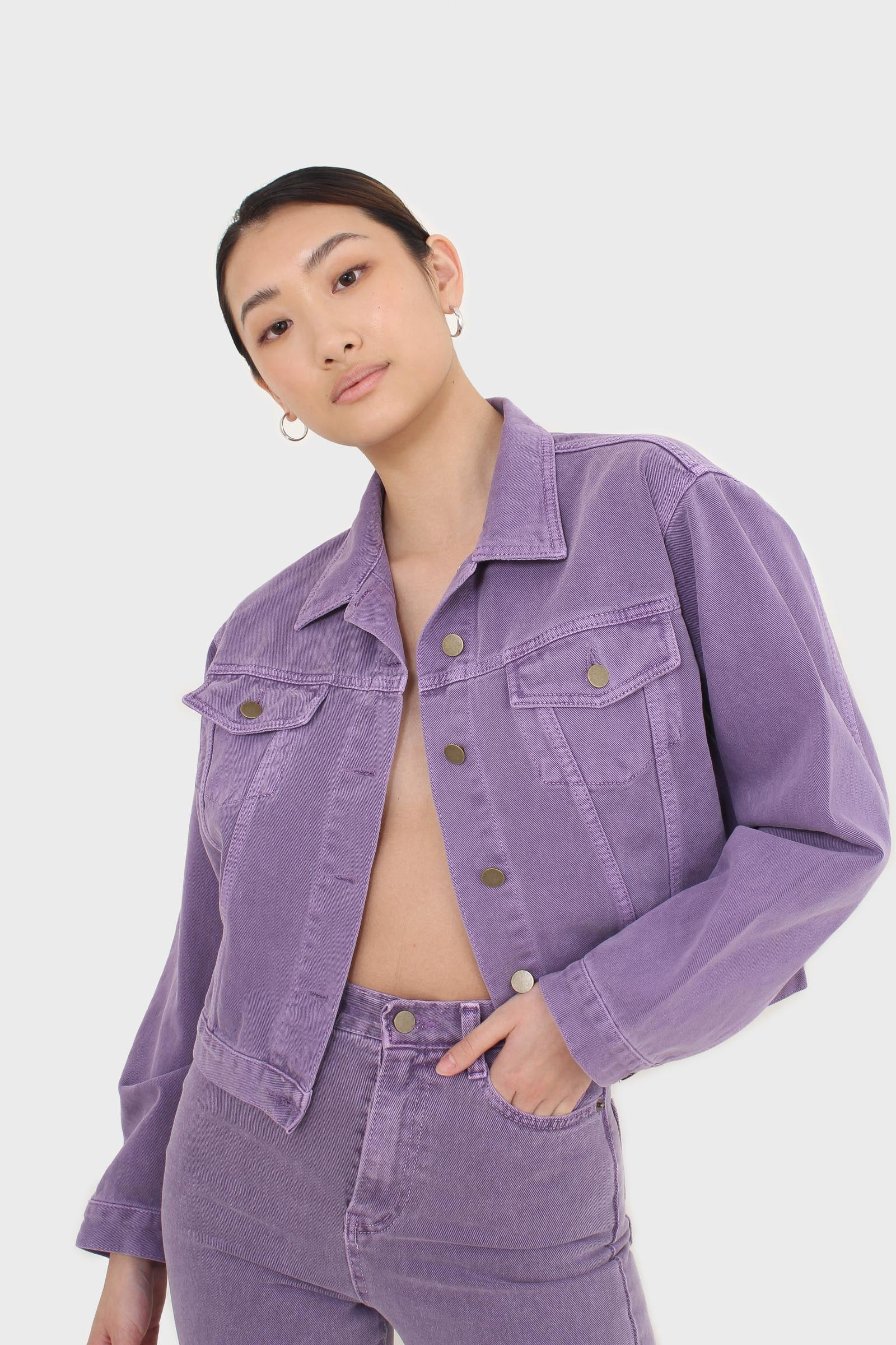 Violet denim jacket - 7005