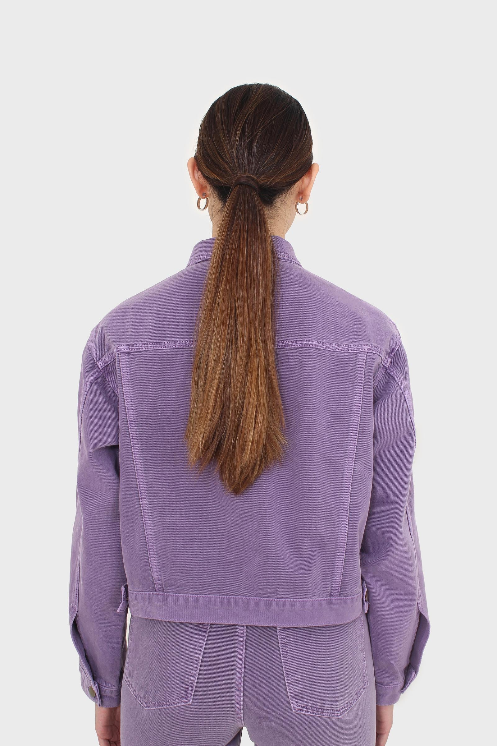 Violet denim jacket - 7006