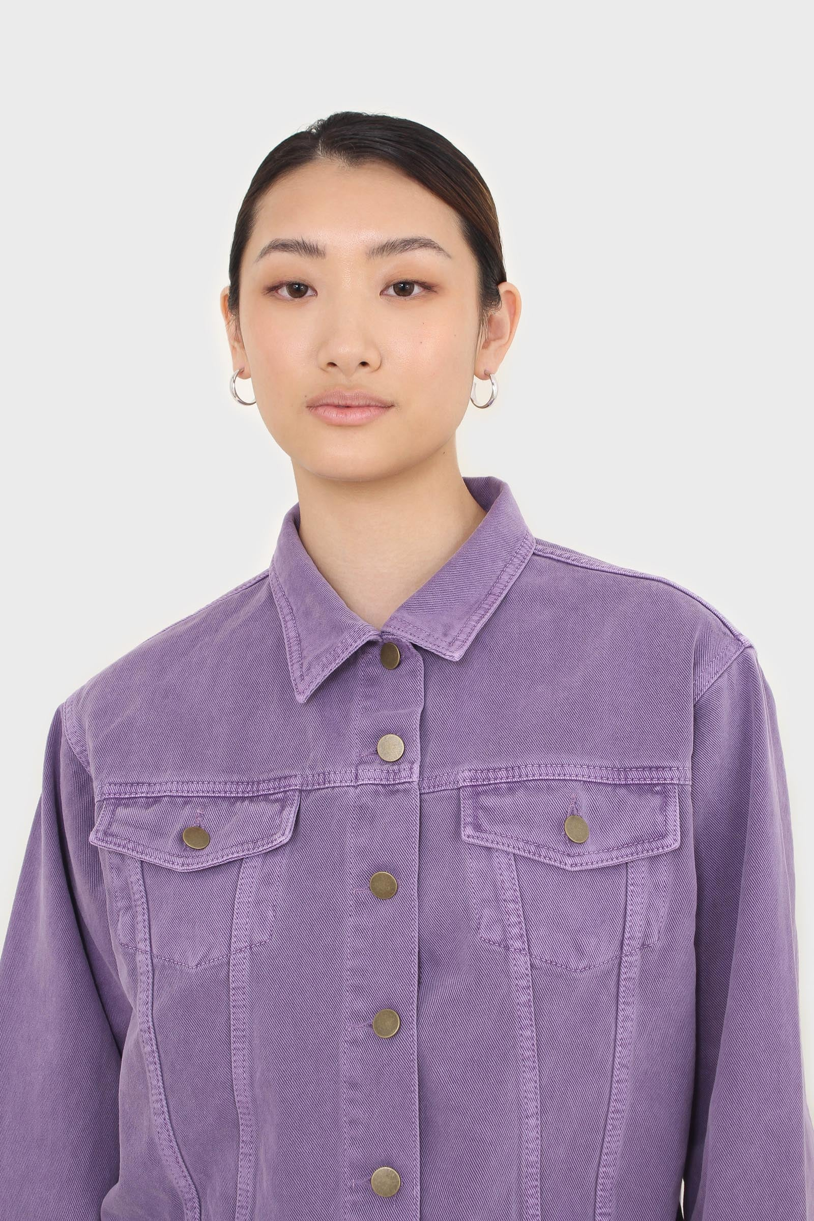 Violet denim jacket - 7008