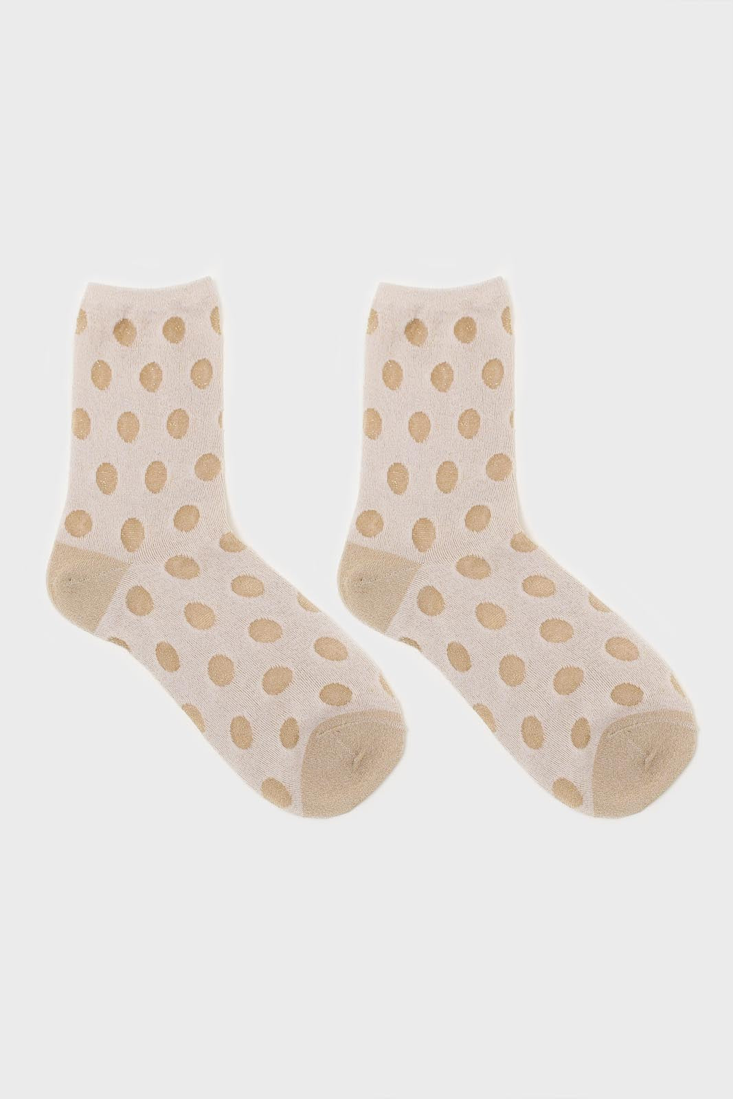 Gold metallic polka dots socks2