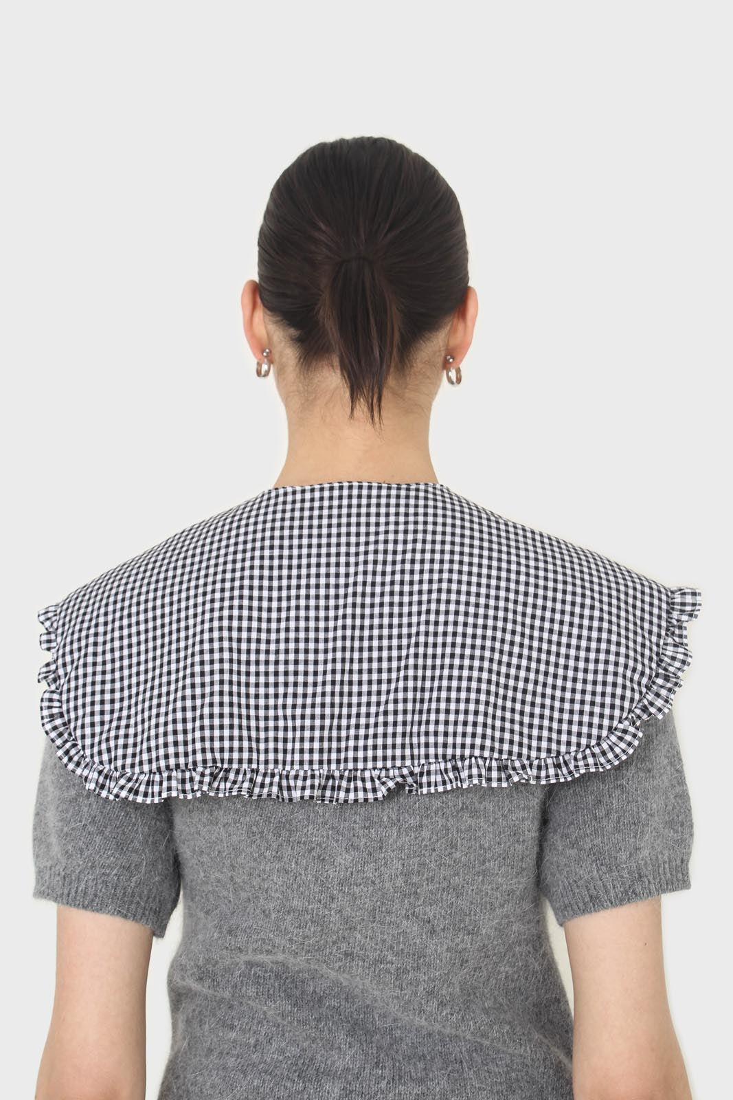 Black and white gingham detachable collar5