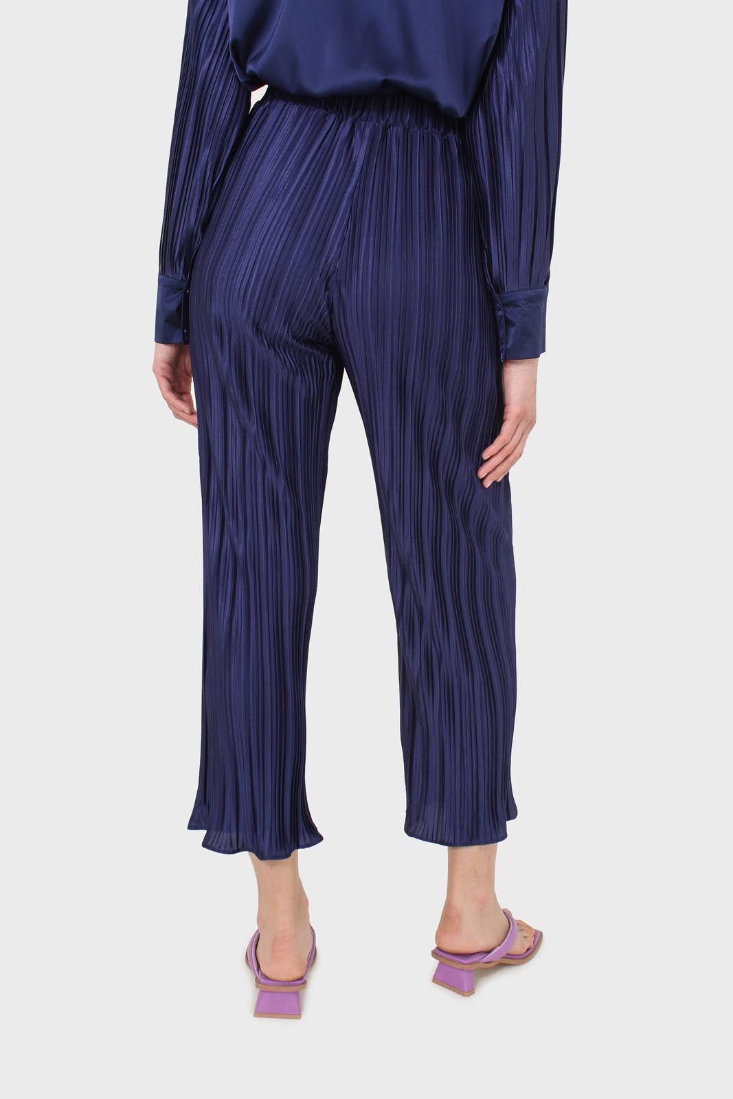 Navy micro pleat trousers5