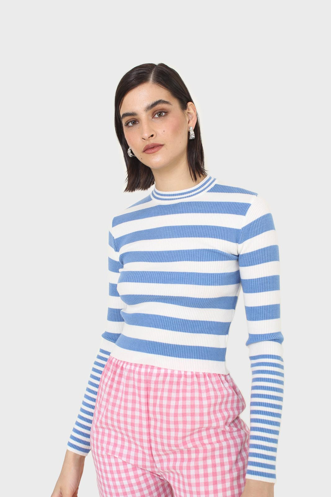 Blue and white bretton stripe long sleeved top12