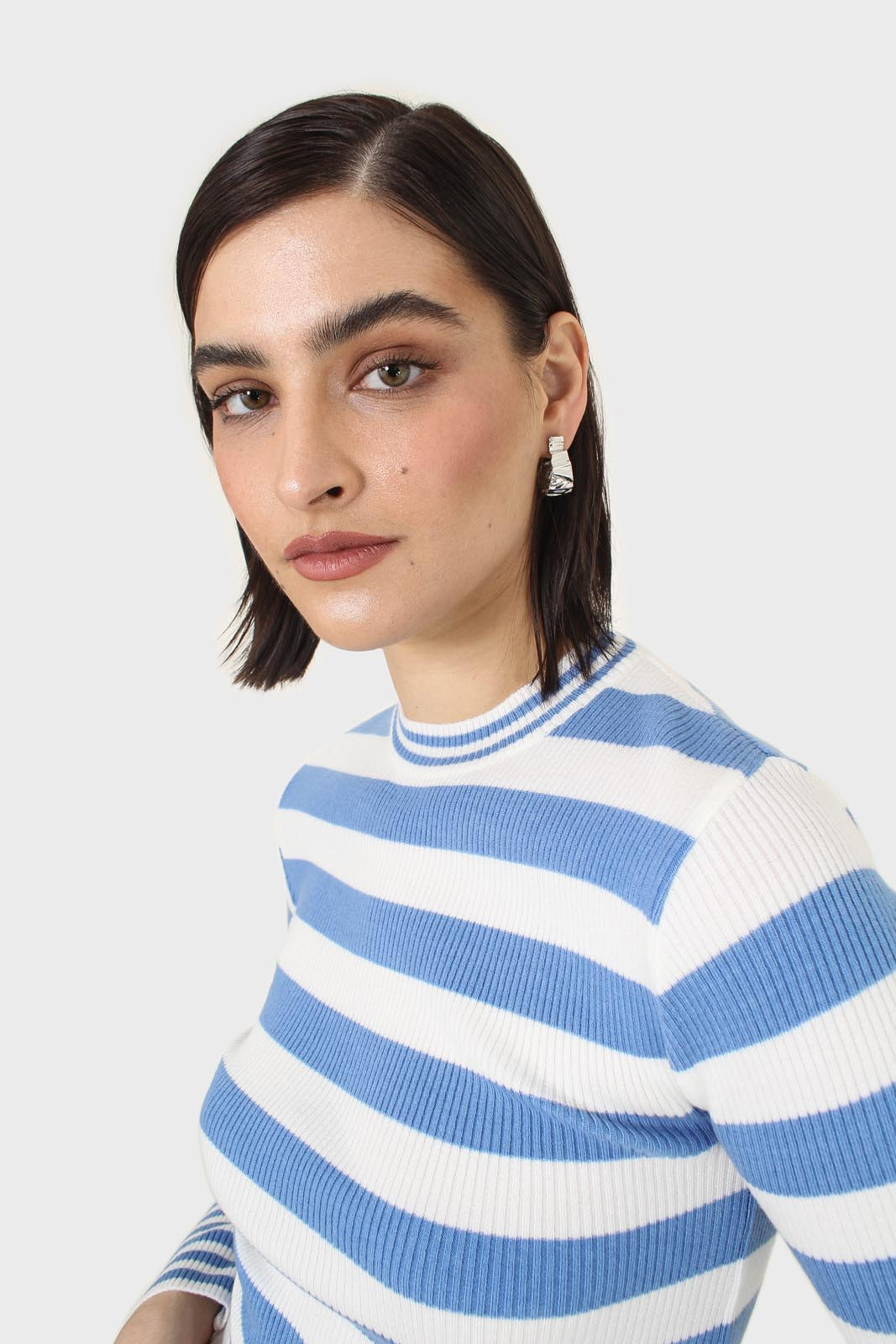 Blue and white bretton stripe long sleeved top13