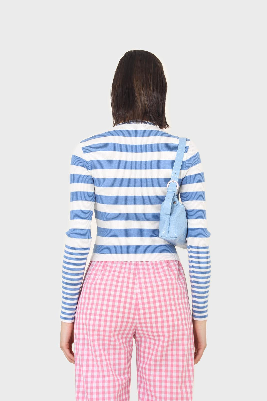 Blue and white bretton stripe long sleeved top5