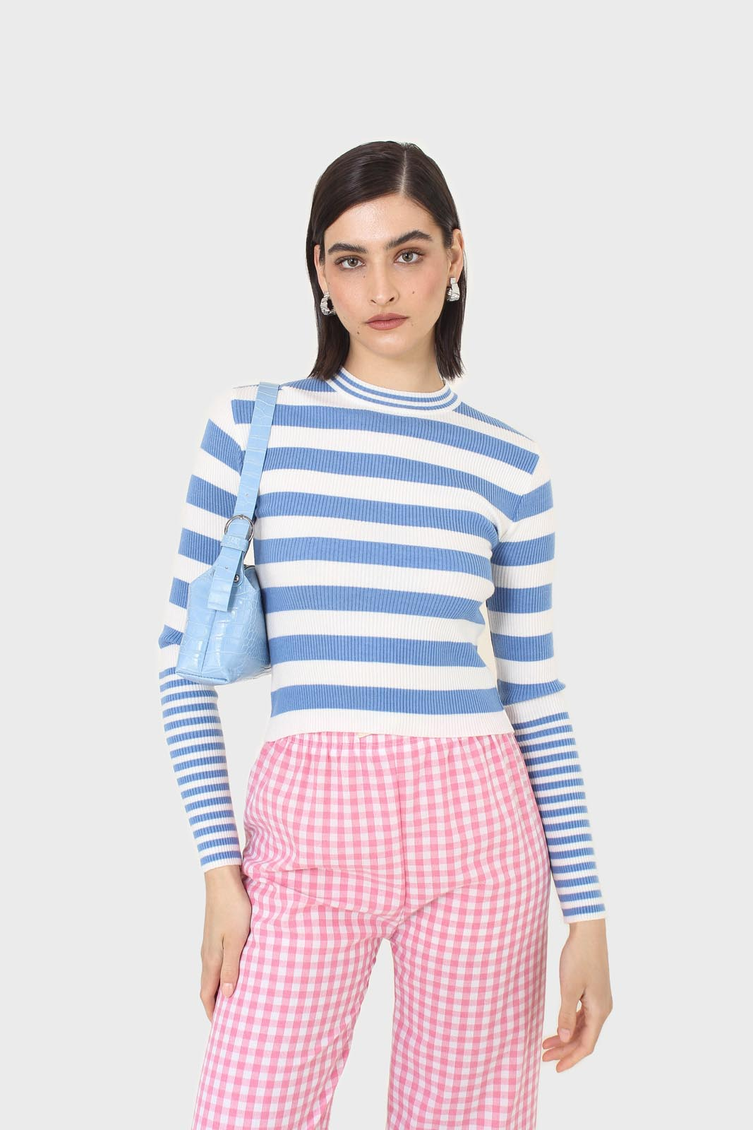 Blue and white bretton stripe long sleeved top6