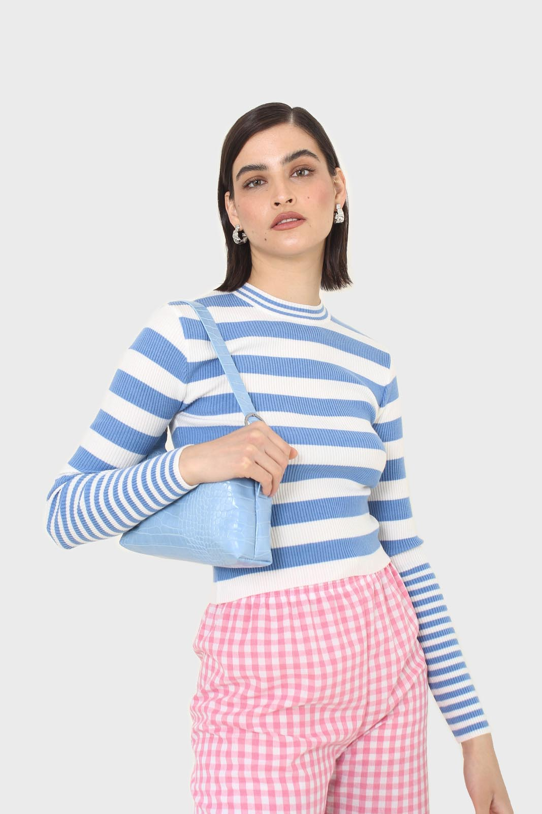 Blue and white bretton stripe long sleeved top8