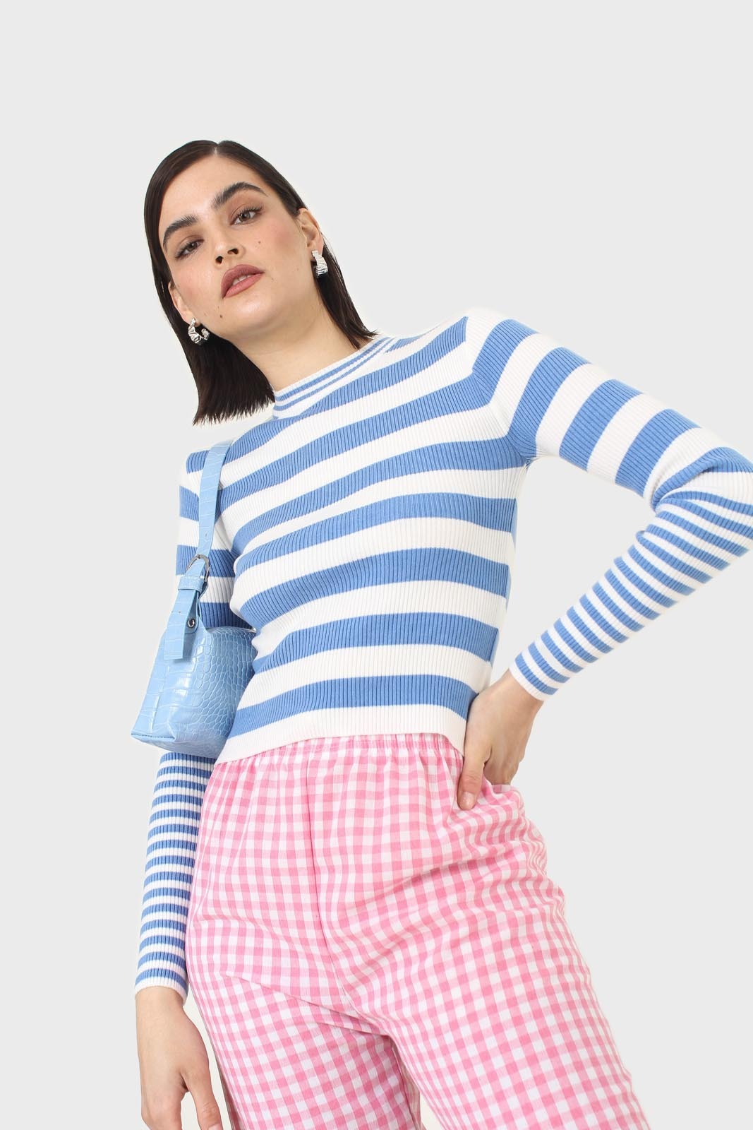 Blue and white bretton stripe long sleeved top9