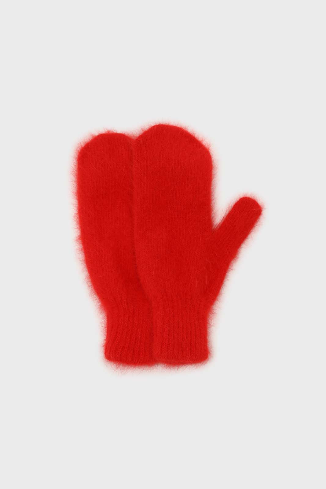 Bright red mohair mittens2