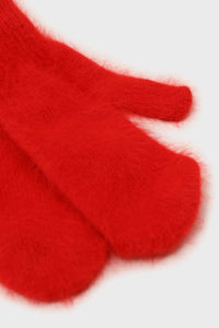 Bright red mohair mittens4