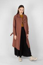 Load image into Gallery viewer, Dusty pink single breasted trench coat1