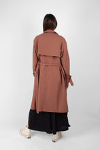 Load image into Gallery viewer, Dusty pink single breasted trench coat5