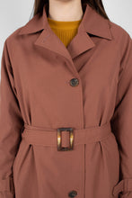 Load image into Gallery viewer, Dusty pink single breasted trench coat7