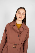 Load image into Gallery viewer, Dusty pink single breasted trench coat8