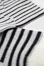 Load image into Gallery viewer, Ivory and black geometric socks4