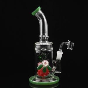 Pineapple with Flower Implosion Water Pipe - Flight Zone