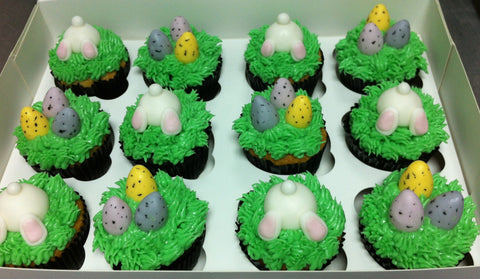Easter Egg & Bunny Cupcakes