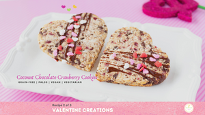 Coconut Chocolate Cranberry Cookies – Grain-Free and Vegan