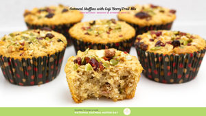 Oatmeal Muffins with Goji Berry Trail Mix