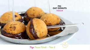 Fig Oat Mini Donuts (Vegan)