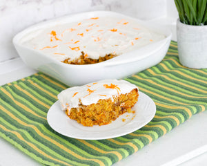 Carrot Cake Squares with Coconut Cream Frosting