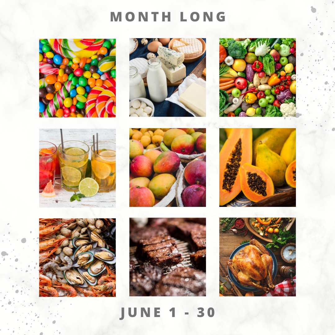 Eat For Life By Marsha - June 2021 Food Days - Month Long