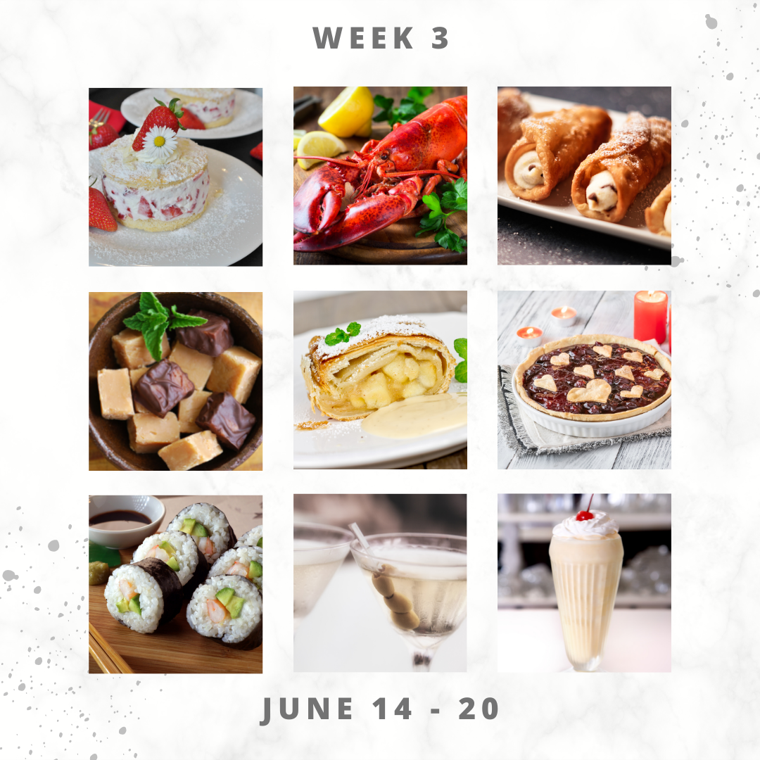 Eat For Life By Marsha - June 2021 Food Days – June 14 to 20