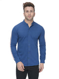 Indigo Full Sleeves Casual Taping Shirt
